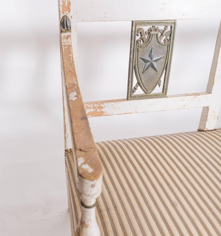 Wood 19c Directoire Bench For Sale