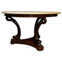 19th Century Dolphin Base Center Table