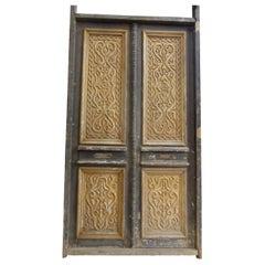 19th Century Double Front Door in Art Nouveau Style, Spain