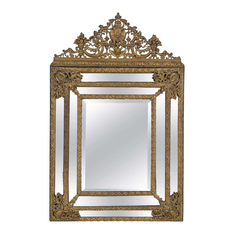 19th Century Dutch Baroque Style Repousse Mirror