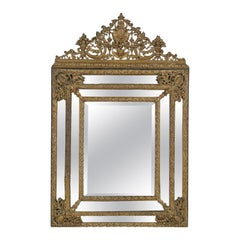 19th Century Dutch Baroque Style Repousse Mirror