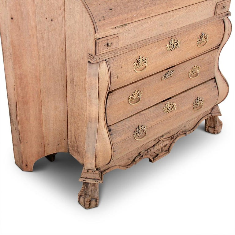 19th Century Dutch Bleached Oak Secretary In Good Condition For Sale In Vancouver, British Columbia