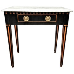 19th Century Dutch Ebony and Satinwood Side Table