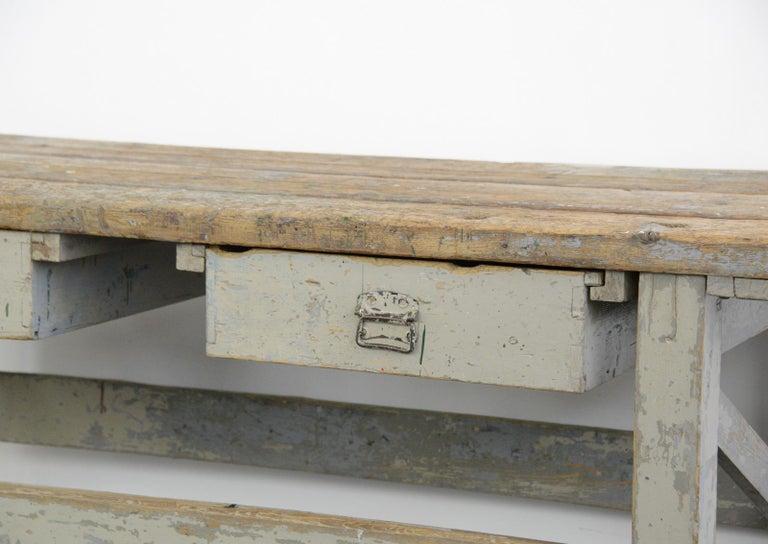 Rustic 19th Century Dutch Farm Workbench For Sale