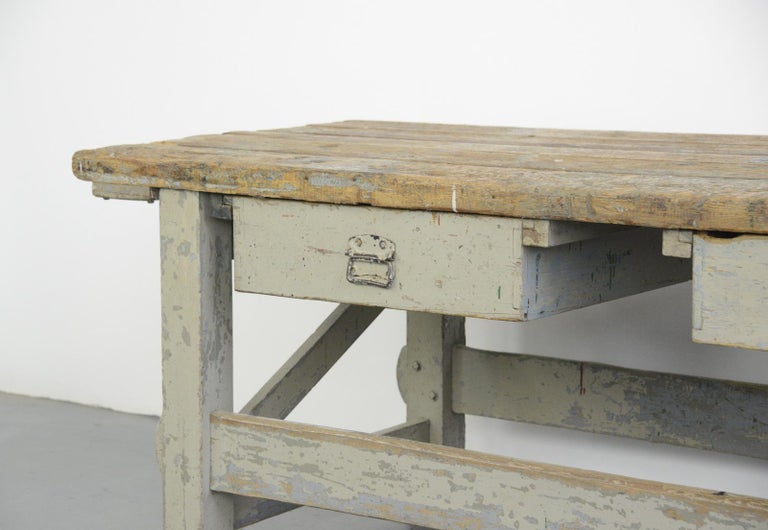 19th Century Dutch Farm Workbench In Good Condition For Sale In Gloucester, GB