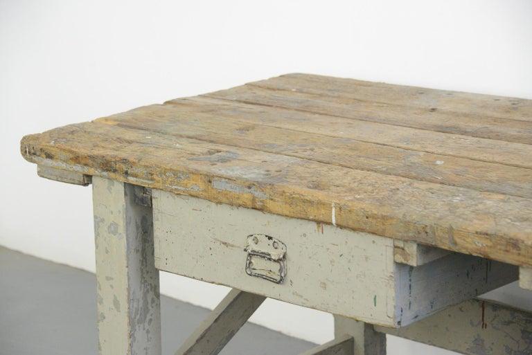Pine 19th Century Dutch Farm Workbench For Sale