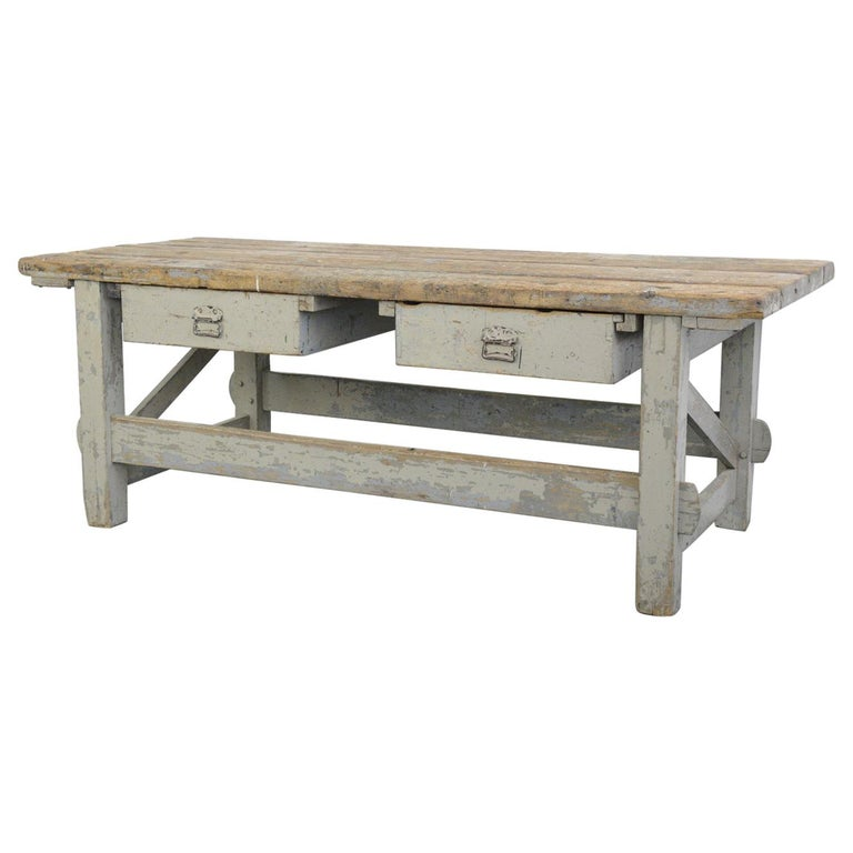 19th Century Dutch Farm Workbench For Sale