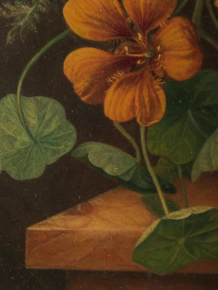 19th Century Dutch Flower Still-Life Oil Painting by A. de Steenbault For Sale 6