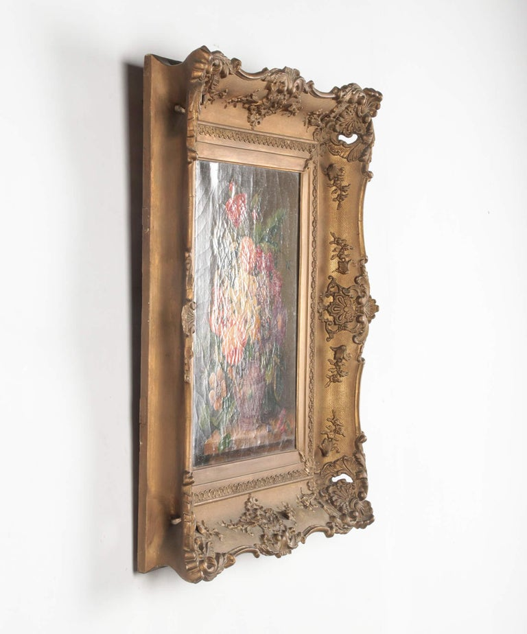 19th Century Dutch Flower Still-Life Oil Painting by A. de Steenbault For Sale 11