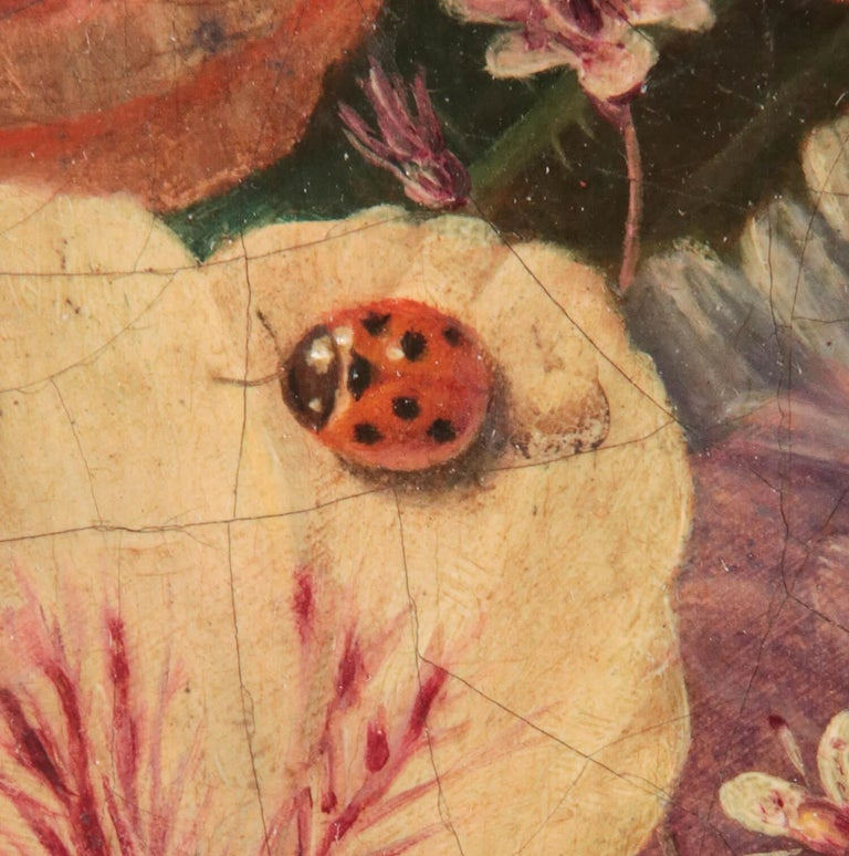 19th Century Dutch Flower Still-Life Oil Painting by A. de Steenbault For Sale 3