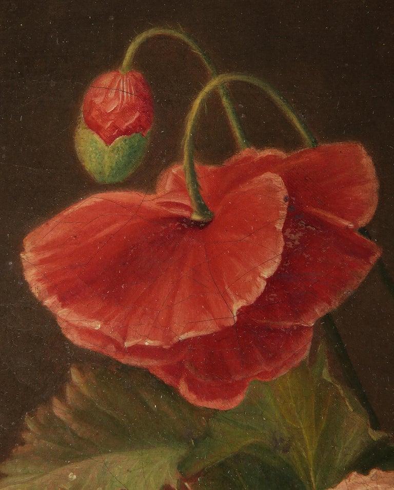 19th Century Dutch Flower Still-Life Oil Painting by A. de Steenbault For Sale 4