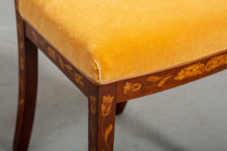 19th Century Dutch Marquetry Side Chair For Sale 7