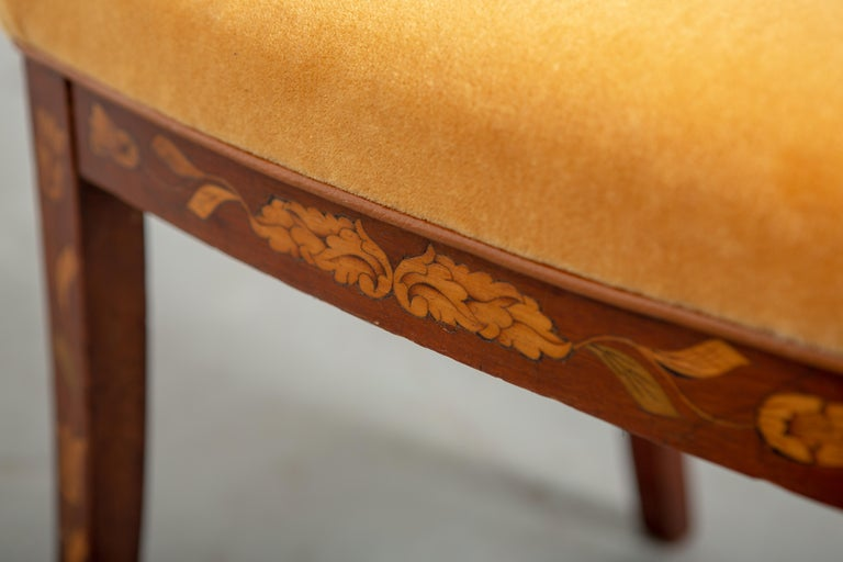 19th Century Dutch Marquetry Side Chair For Sale 8