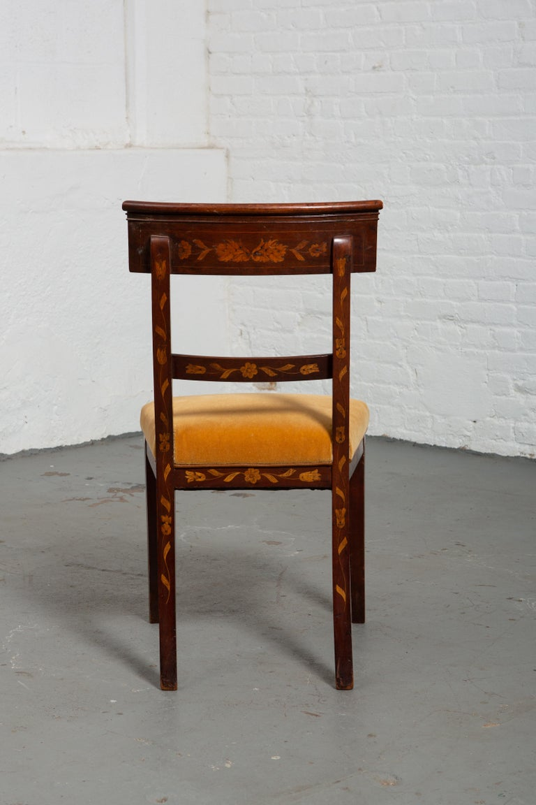 19th Century Dutch Marquetry Side Chair For Sale 1