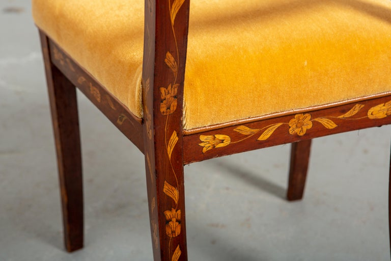 19th Century Dutch Marquetry Side Chair For Sale 2