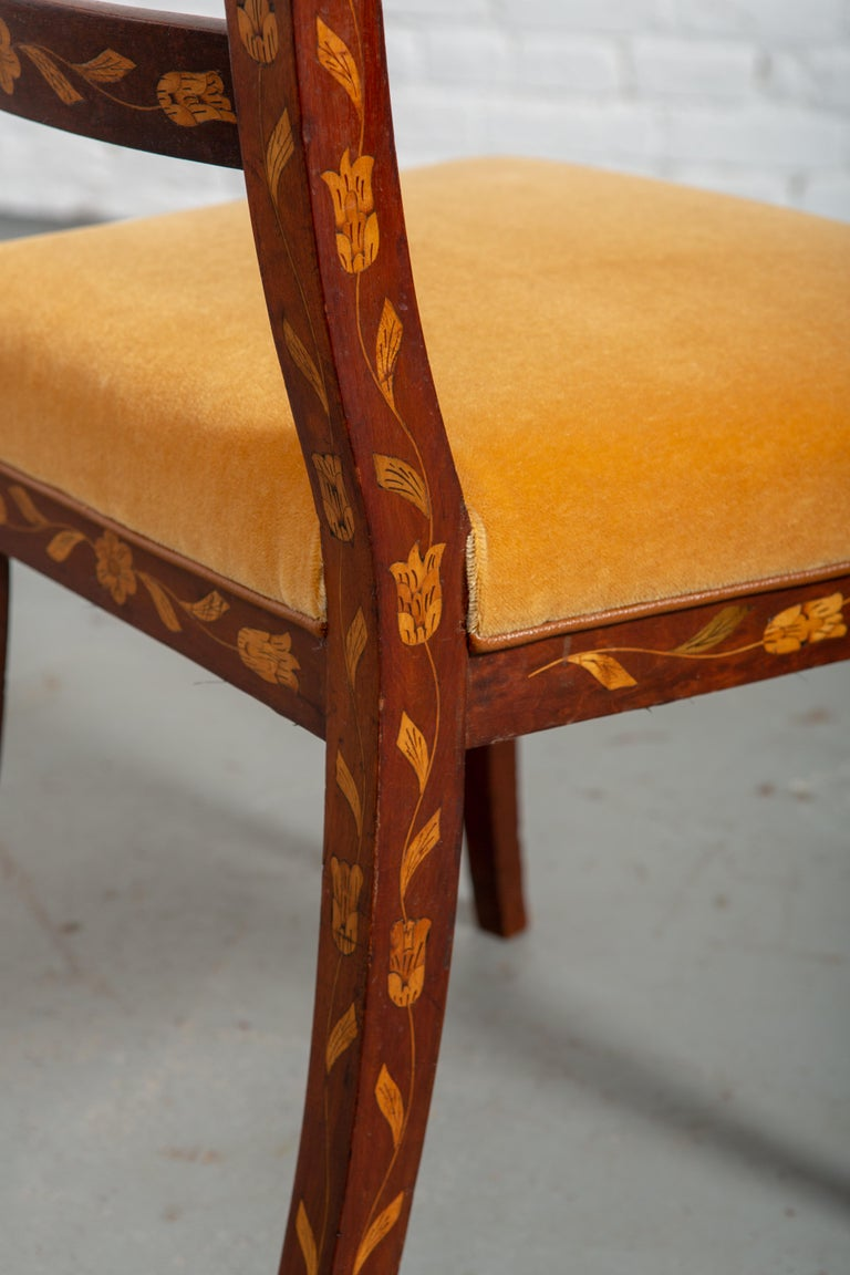 19th Century Dutch Marquetry Side Chair For Sale 4