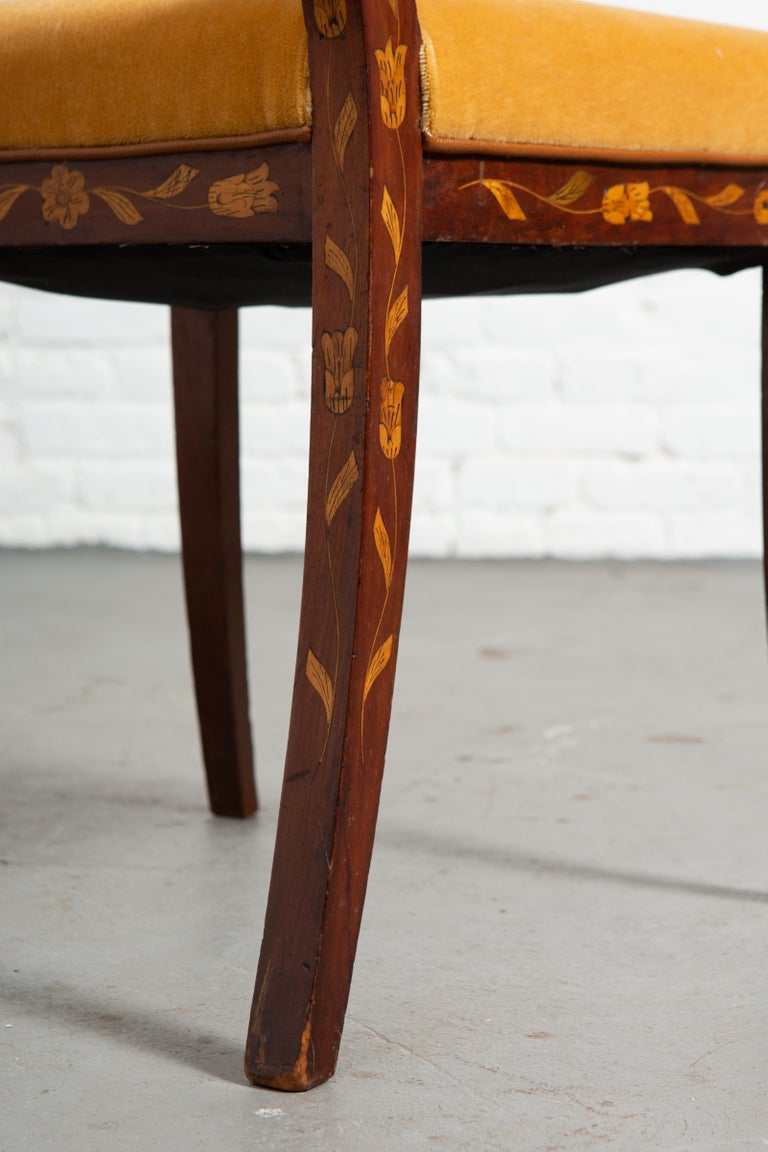19th Century Dutch Marquetry Side Chair For Sale 5