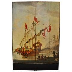 19th Century Dutch Nautical Screen