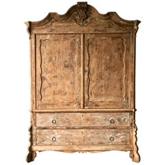 19th Century Dutch Painted Oak Cabinet