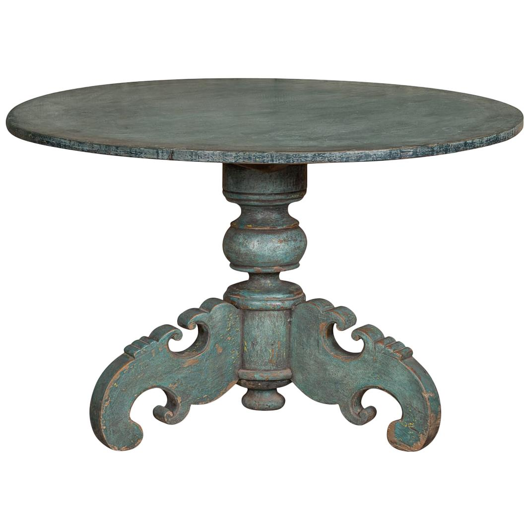 19th Century Dutch Painted Wood Table, circa 1880