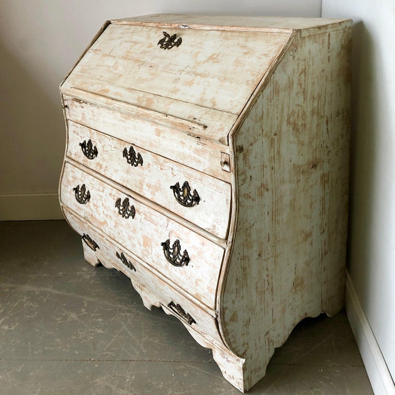 Hand-Crafted 19th Century Dutch Secretaire For Sale