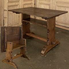 19th Century Dutch Tilt Top Table ~ Chair