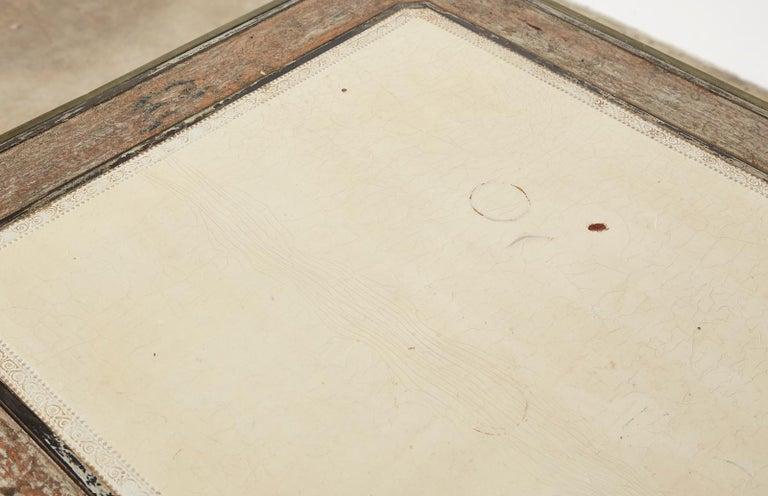 19th Century E. Khan and Cie Louis XV Bureau Plat Desk For Sale 6