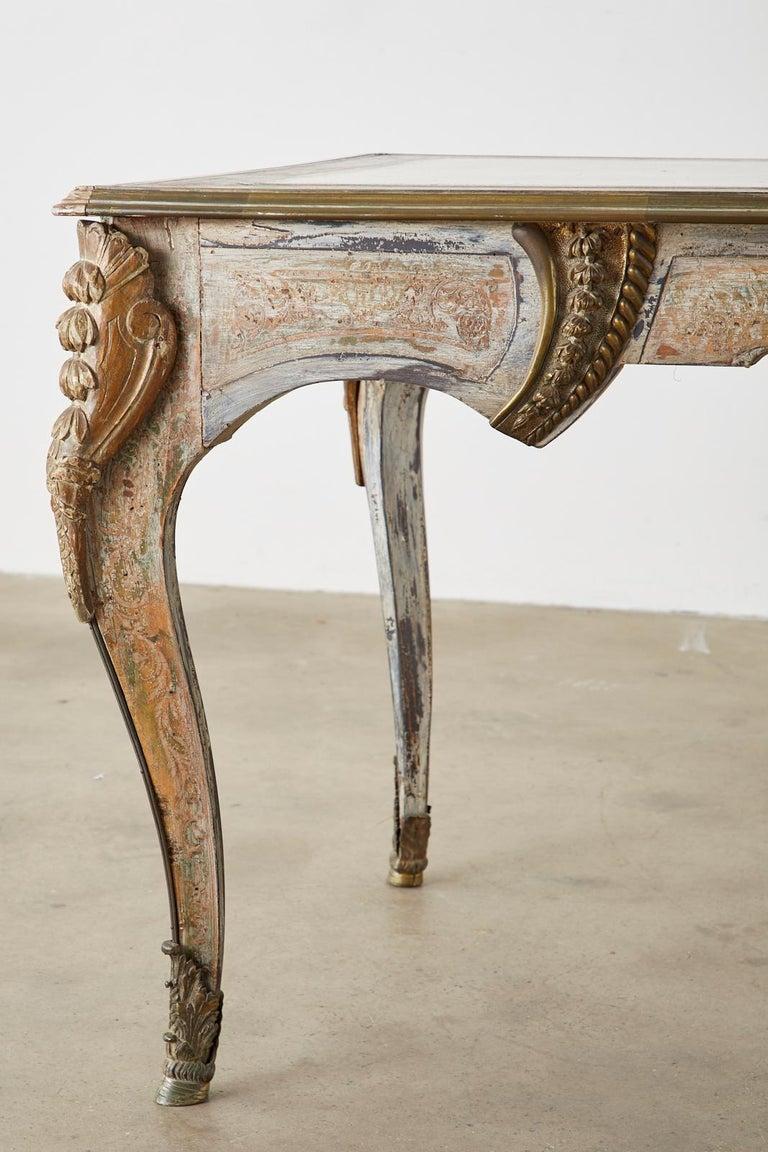 19th Century E. Khan and Cie Louis XV Bureau Plat Desk For Sale 9