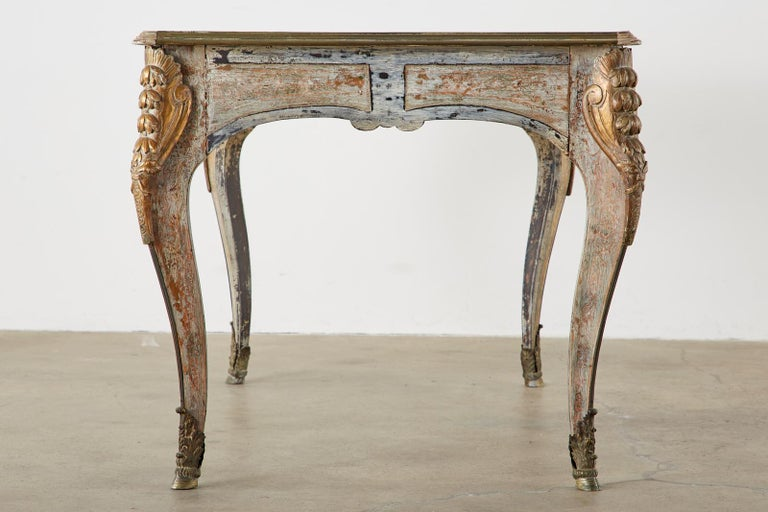 Hand-Crafted 19th Century E. Khan and Cie Louis XV Bureau Plat Desk For Sale