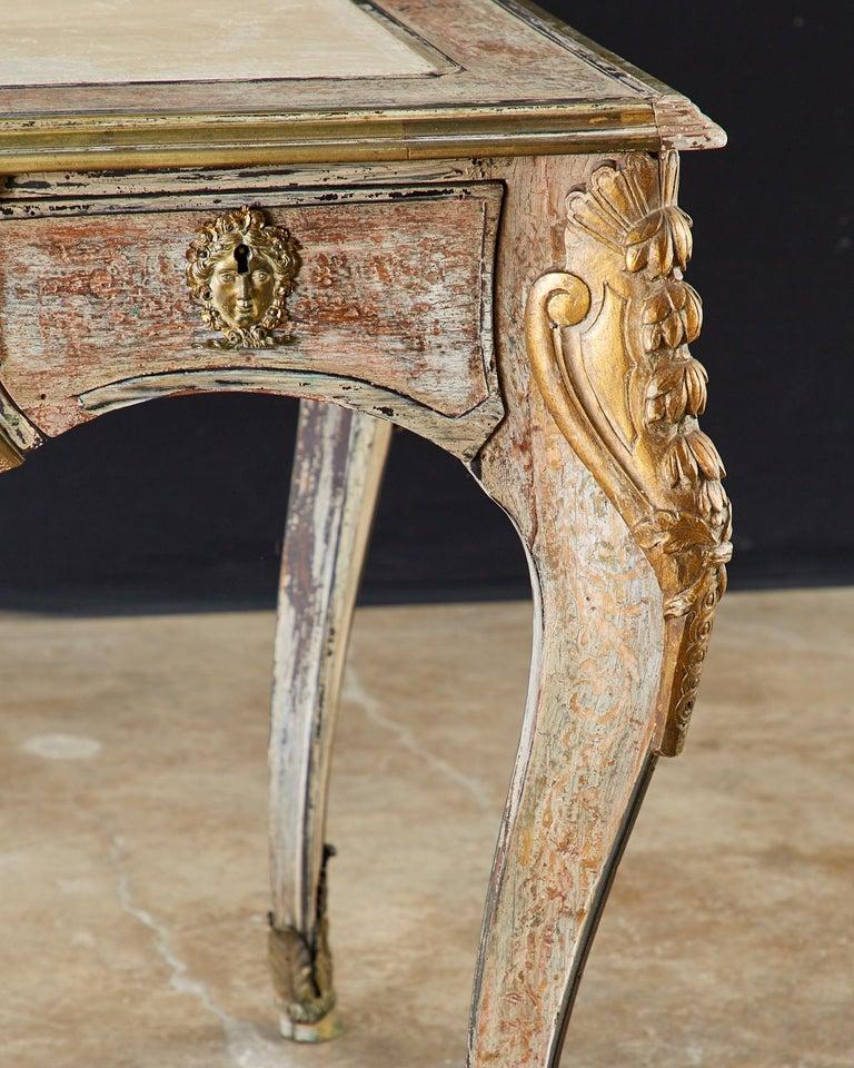 19th Century E. Khan and Cie Louis XV Bureau Plat Desk For Sale 2
