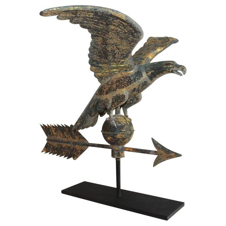 19th Century Eagle Weather Vane in Old Surface For Sale