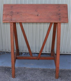 19th Century Early Pine Saddle/Saddle Blanket Rack