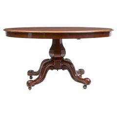 19th Century Early Victorian Mahogany Oval Breakfast Table