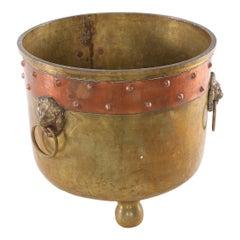 19th Century Eastern European Ash Bucket / Log Holder