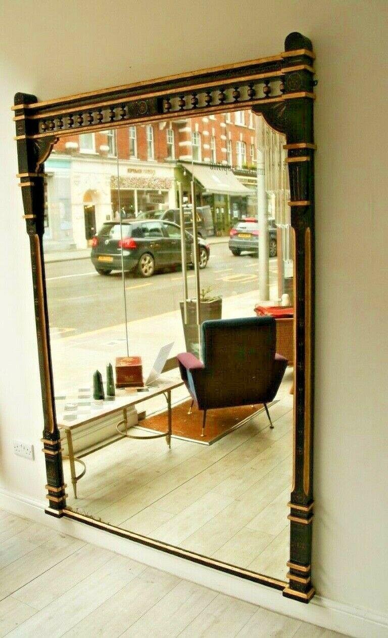 19th Century Ebonised and Gilt Aesthetic Movement Overmantel/Pier Mirror In Good Condition In London, GB