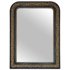 19th Century Ebonised and Gilt Finish Overmantle Wall Mirror