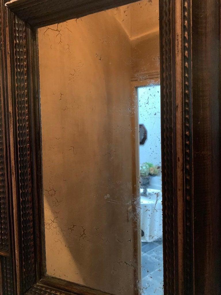 Early 19th Century 19th Century Ebonised Italian Mirror For Sale