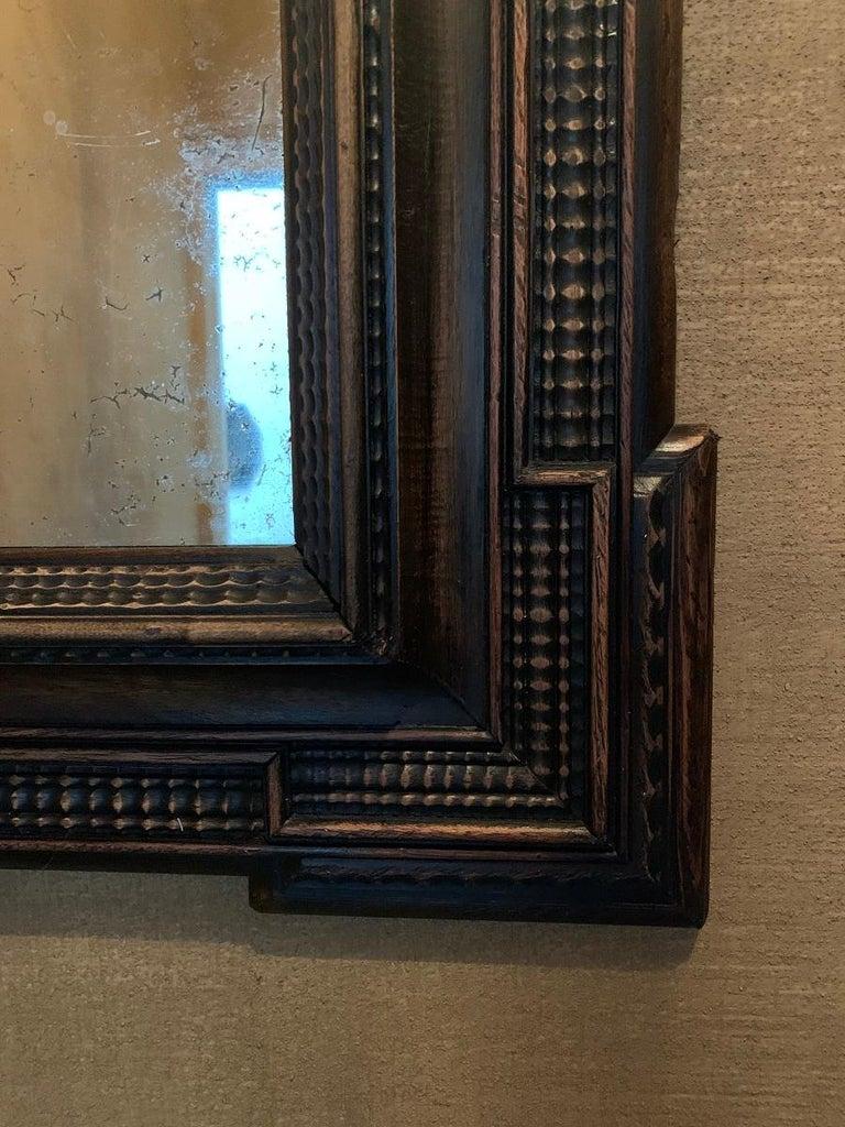 Softwood 19th Century Ebonised Italian Mirror For Sale