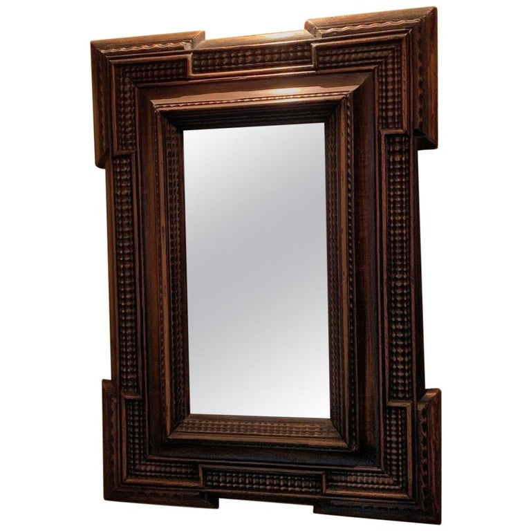 19th Century Ebonised Italian Mirror For Sale