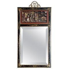19th Century Ebonized Chinese Mirror