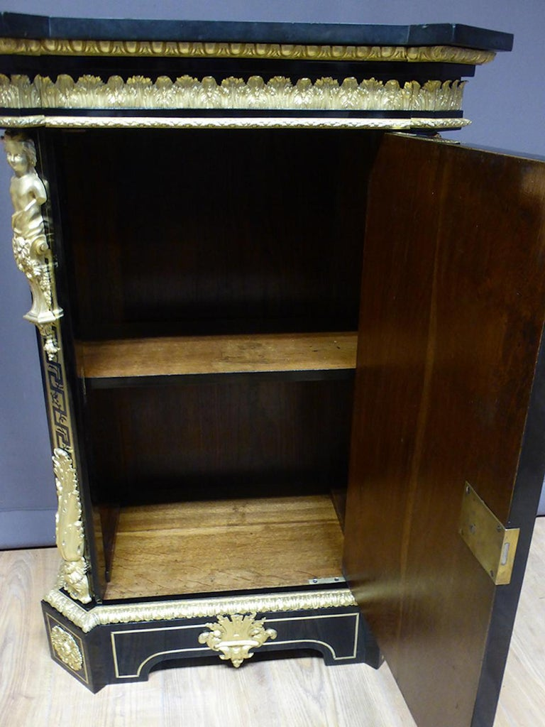 19th Century Ebony and Gilted Bronze Buffet Signed by Befort Jeune For Sale 6