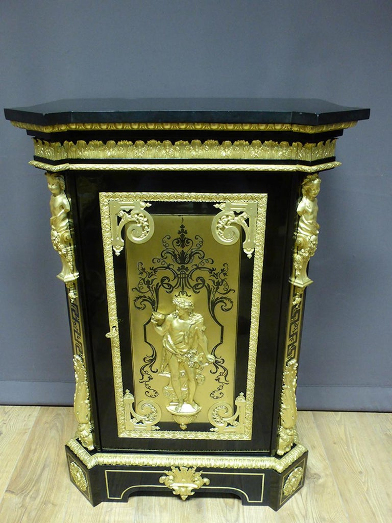 19th Century Ebony and Gilted Bronze Buffet Signed by Befort Jeune For Sale 1