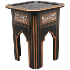 19th Century Ebony and Inlaid Occasional Table