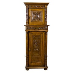 19th Century Eclectic Cabinet with Iconography with Saint George