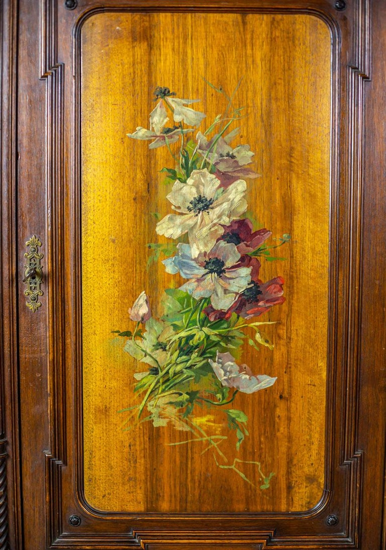 European 19th Century Eclectic Columnar Cabinet For Sale