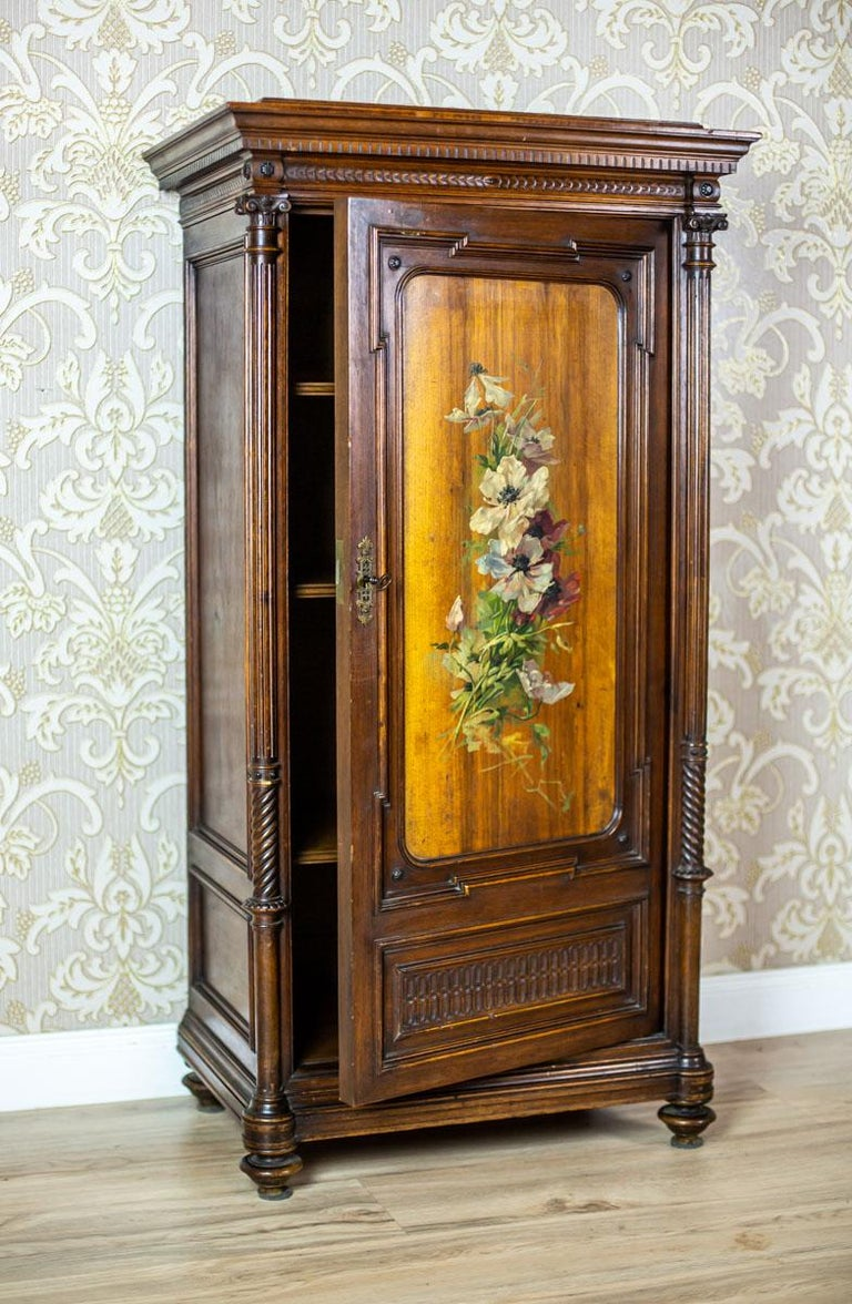 19th Century Eclectic Columnar Cabinet For Sale 1