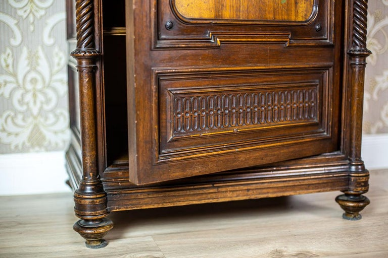 19th Century Eclectic Columnar Cabinet For Sale 3