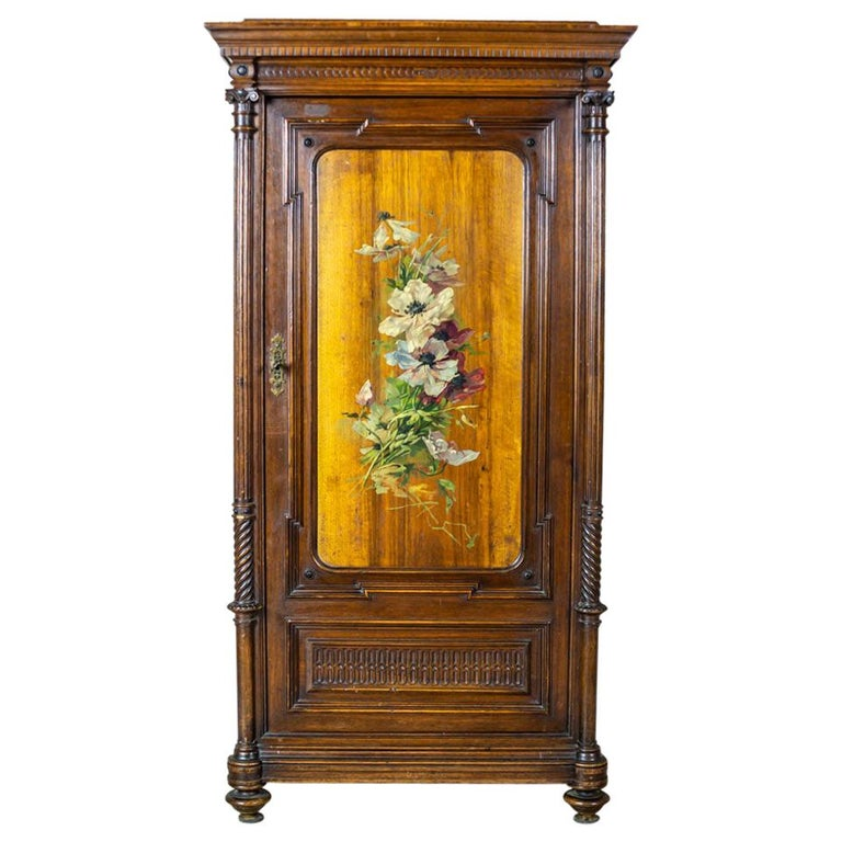 19th Century Eclectic Columnar Cabinet For Sale