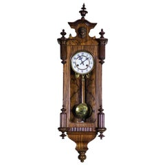 19th Century Eclectic Regulator Wall Clock