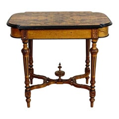 19th Century Eclectic Walnut Small Table